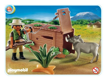 playmobil safari 4833 chasseur avec le piege. Black Bedroom Furniture Sets. Home Design Ideas