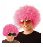 PERRUQUE CHICCO AFRO ROSE FLUO 180GR ADULTE - FUNKY, DISCO - ACCESSOIRE FETE