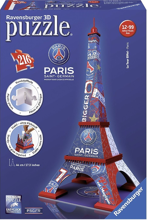 ravensburger 12560 puzzle 3d tour eiffel psg paris saint germain. Black Bedroom Furniture Sets. Home Design Ideas